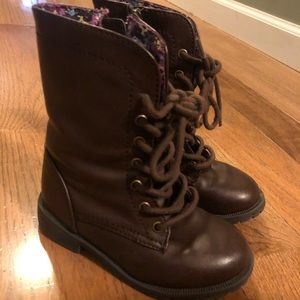 Cherokee Toddler Girls Brown Boots Size 8